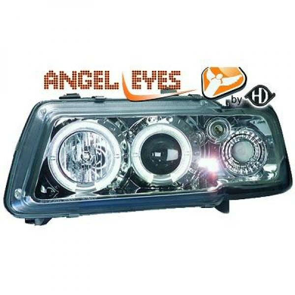 Angel Eyes Scheinwerfer Set Audi A3 8L BJ 96-00 Klarglas/Chrom
