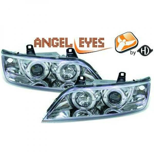 Angel Eyes Scheinwerfer Set BMW Z3 BJ 96-02 Klarglas/Chrom