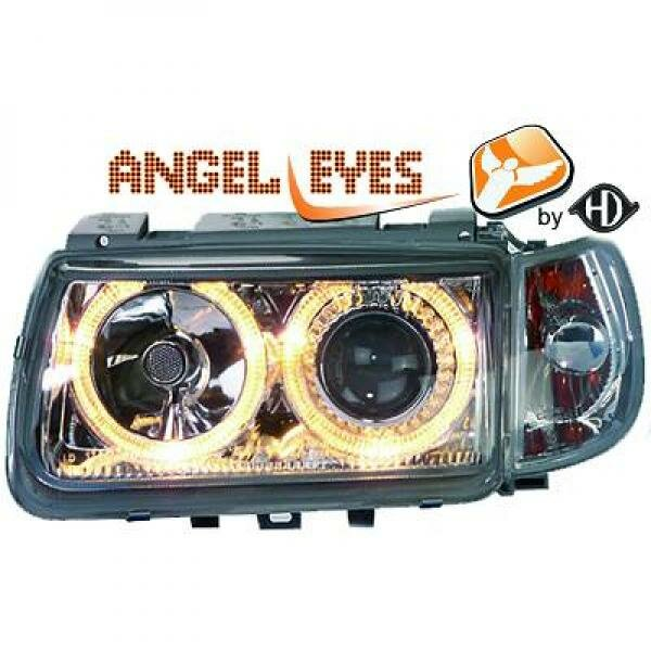 Angel Eyes Scheinwerfer Set Volkswagen Polo BJ 95-98 Klarglas Chrom