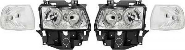 Angel Eyes Scheinwerfer Set VW T4 Caravelle/Multivan BJ 97-03 Klarglas Chrom