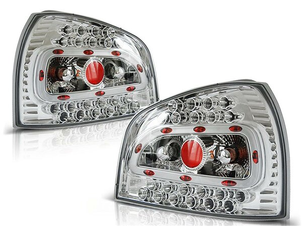LED Rückleuchten Set Audi A3 BJ 08.96-08.00 Klarglas / Chrome