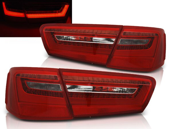 LED Rückleuchten Set Audi A6 (C7) BJ 2011 - 10.2014 Rot / Chrome
