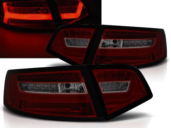 LED Rückleuchten Set Audi A6 Limousine BJ 2009-2011 Rot / Smoke