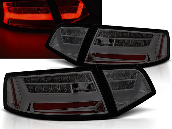 LED Rückleuchten Set Audi A6 Limousine BJ 2009-2011 Smoke