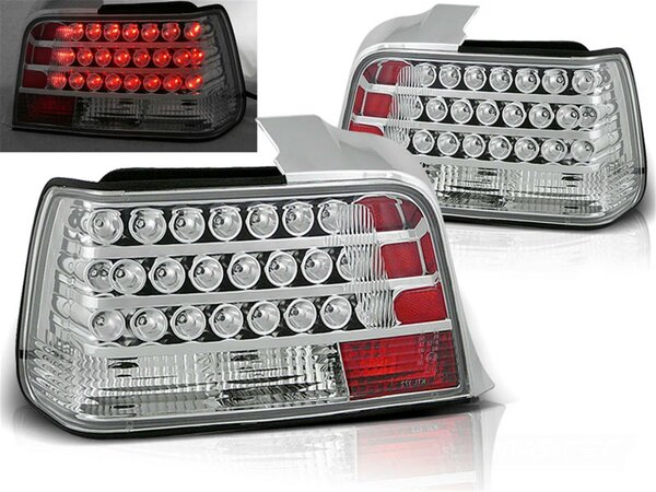 LED Rückleuchten Set BMW E36 Limousine BJ 12.90-8.99 Klarglas / Chrome