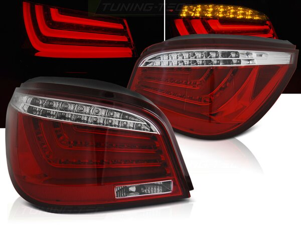 LED Lightbar Rückleuchten Set BMW E60 Limousine BJ 07.03-02.07 rot / chrom