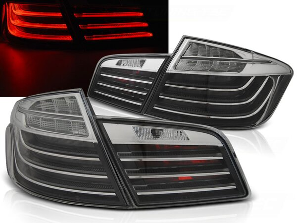 LED Bar Rückleuchten Set BMW 5er F10 BJ 10-07/13 Schwarz Chrom