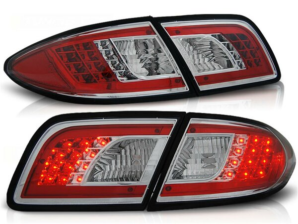 LED Rückleuchten Set Mazda 6 Limousine BJ 08.02-08.07 Klarglas / Chrome