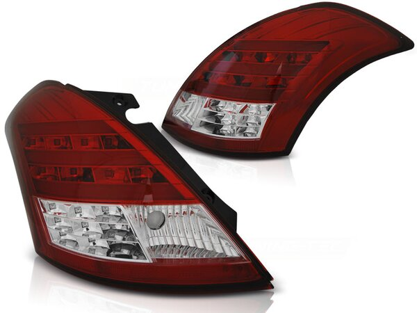 LED Bar Rückleuchten Set Suzuki Swift V BJ 10-13 Rot Weiß