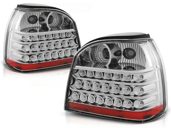 LED Rückleuchten Set Volkswagen Golf III BJ 09.91-08.97 Klarglas / Chrome