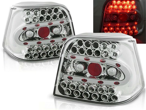 LED Rückleuchten Set Volkswagen Golf IV Hatchback  BJ 09.97-09.03 Chrome