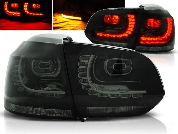 LED Rückleuchten Set Volkswagen Golf VI Hatchback BJ 10.08-12 Klarglas / Rauch