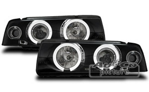 Angel Eyes Scheinwerfer Set BMW 3er E36 Coupe/Cabrio Schwarz